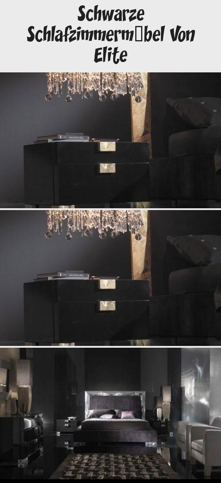 Schwarze Schlafzimmermöbel Von Elite