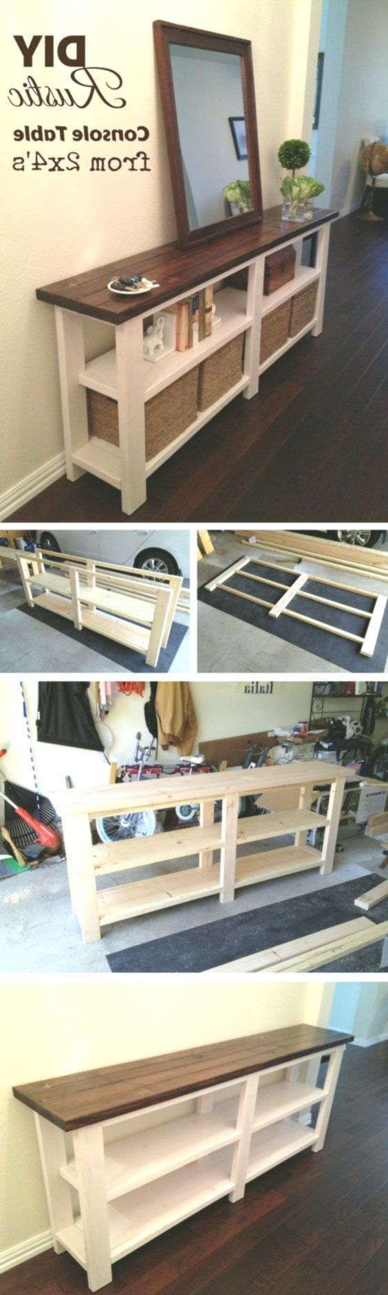 See how you unite rustic DIY console table # hallway furniture #design #model #d…