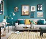 Senf und blaue Wohnzimmerideen 61 | Inspira Spaces#gardenia #gardena #landscaped...
