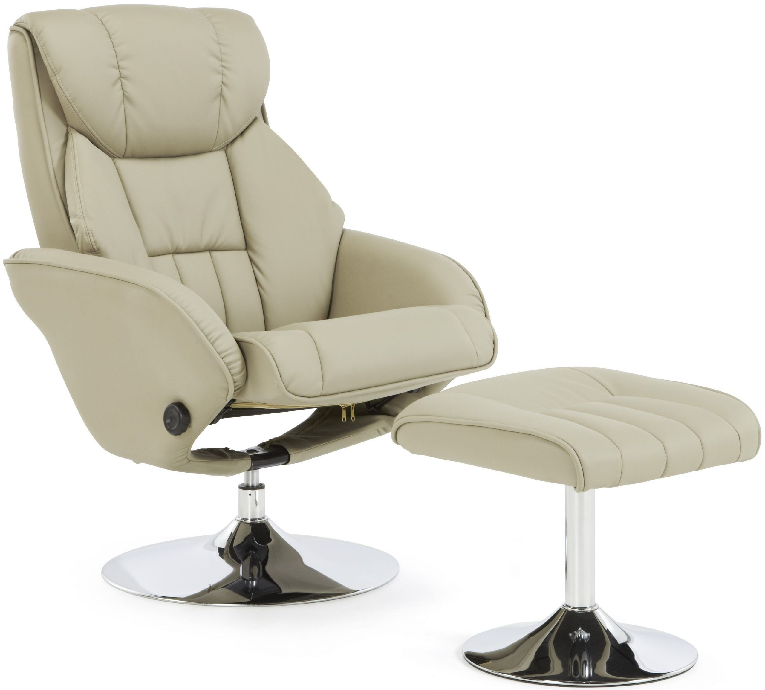 Serene Larvik Taupe Faux Leather Recliner Chair – CFS Furniture UK