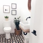 Sharing pics of our half bath remodel. It's so small. I can't get a good overall…