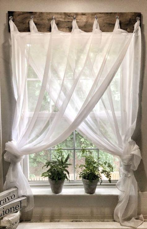 Simple Farmhouse Window Treatments – https://bingefashion.com/home