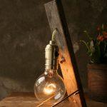 Simple Wooden Rustic Vintage Lamp - iD Lights