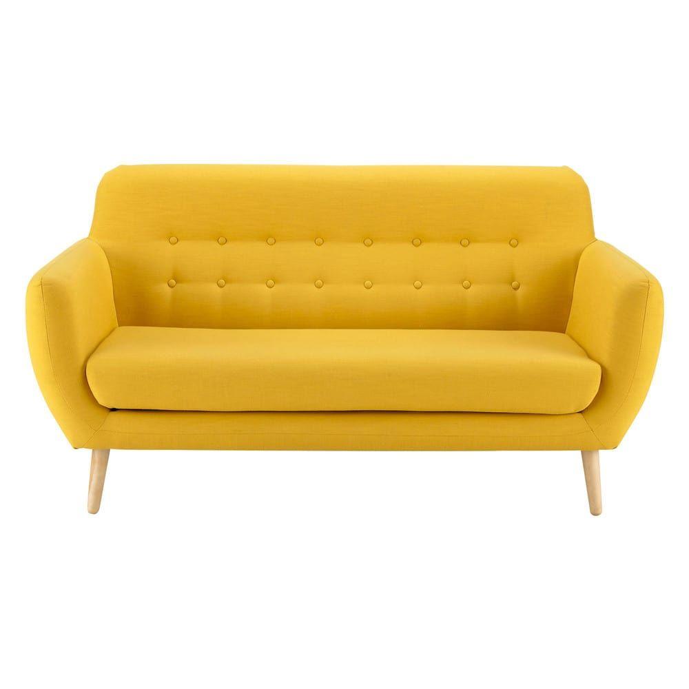 Skandinavischer Sofa 2/3-Sitzer, gelb | Maisons du Monde