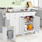 SoBuy Küchenwagen mit Edelstahltop,Küchenschrank,Rollwagen FKW33-W