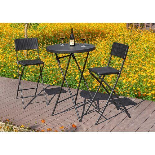 Sol 72 Outdoor Alixandra 3 Piece Bistro Set | Wayfair.co.uk