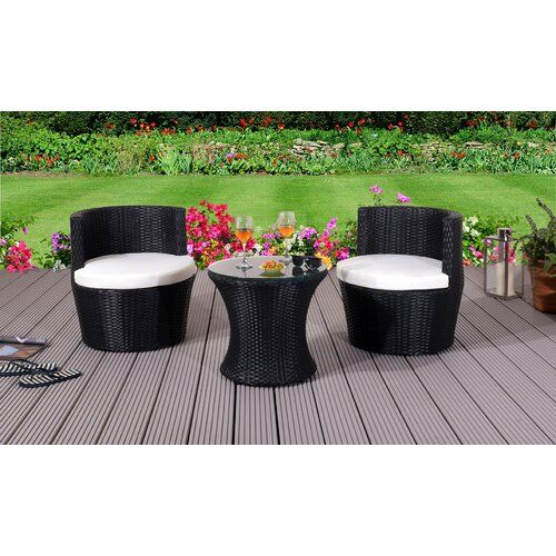 Sol 72 Outdoor Dayana 2 Seater Bistro Set with Cushions | Wayfair.co.uk