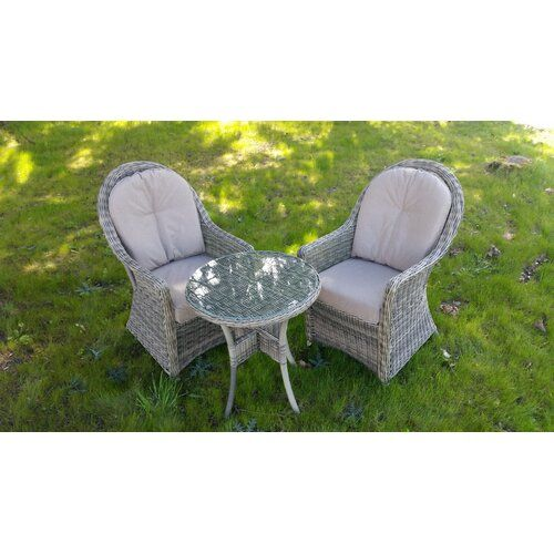Sol 72 Outdoor Kinley 2 Seater Bistro Set with Cushions | Wayfair.co.uk