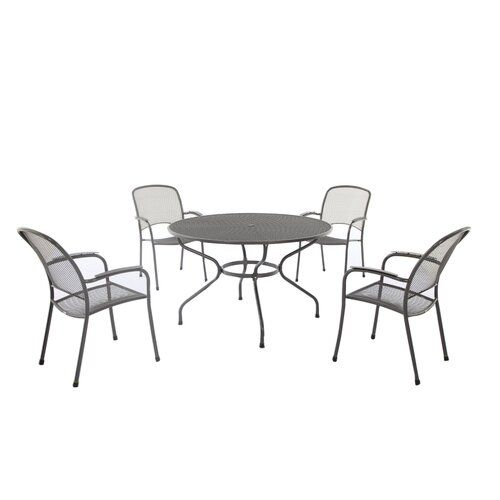 Sol 72 Outdoor Rockdale 5 Piece Round Dining Set | Wayfair.co.uk