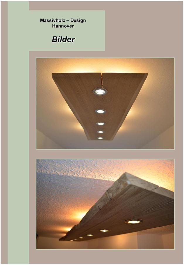 Solid wood Design Ceiling lamp (LED)