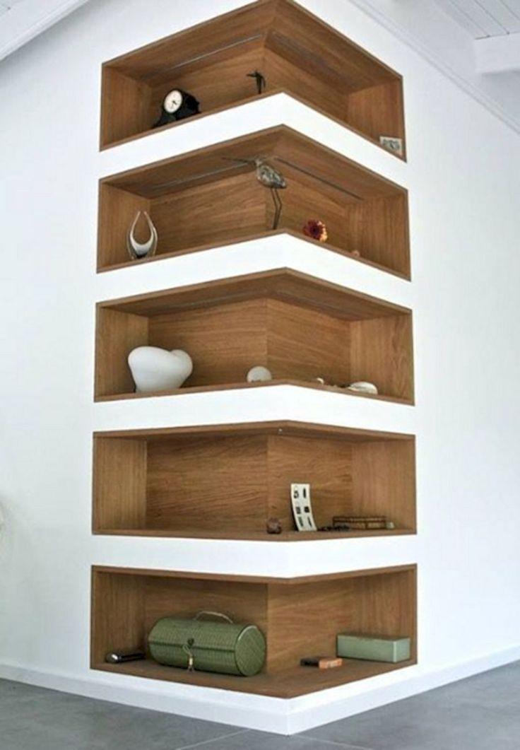Space-Saving Corner Shelf Design Ideas www.futuristarchi… – Home Decor Art