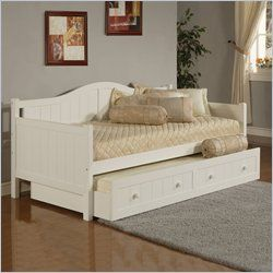 Staci Daybed White w/ Trundle Drawer – Hillsdale Furniture 1525DBT