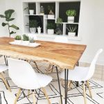 Striking live edge dining table in a boho decor setting. Just lovely. #diningroo...