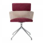 Stuhl mit hohen Rückenlehne und Aluminium-Guss 4-Schaft DrehbasisSitz und Rück...