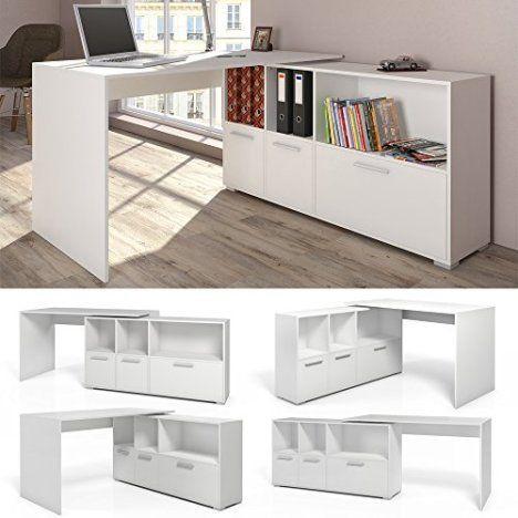 Stylisch und Praktisch : Der Eckschreibtisch Weiß Schreibtisch winkelbar Winkelschreibtisch Bürotisch – https://pickndecor.com/dekor