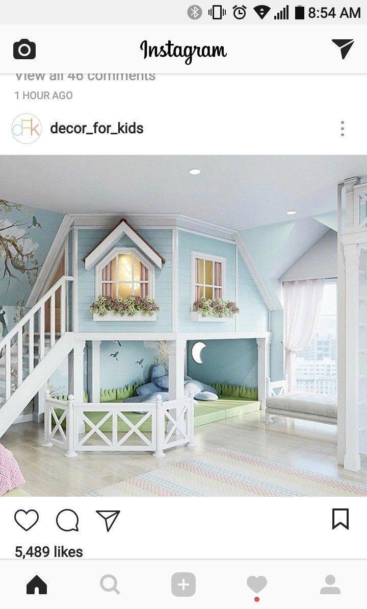 Süße kleine Mädchen Schlafzimmer oder Spielzimmer. – #kinderzimmer – Oriel D.