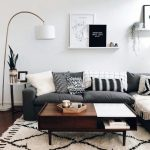 Suitable dark grey couch living room decor that look beautiful