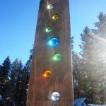 Suncatcher Spinner Wood Art Rustic Modern Country Decor Valentine Montana Made W