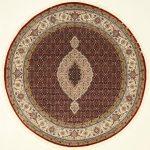 Tabriz Mahi Handgeknüpft orientalisch Teppich 200 x 200 cm orient matto - Einrichtung ideen