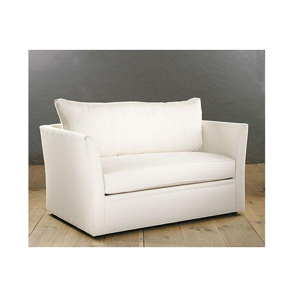 Tate Leather Twin Sleeper Chair | Ballard Designs