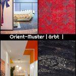 #Teppich Orient-Muster | #gefärbt #gewebt | #feuerrot #rot,  #feuerrot #gefärbt #gewebt #Orie...