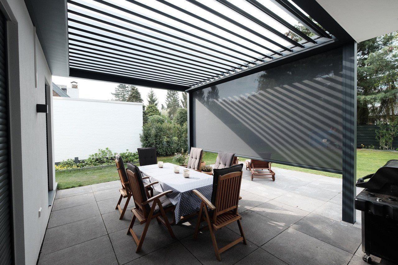 Terrassendach Skye® Die drehbaren Dachlamellen beim Terrassendach Skye® könne…