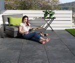 Terrassenplatten in Schieferoptik Alpinschwarz,  #Alpinschwarz #GartenGestaltung...