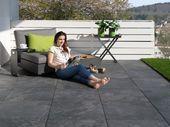 Terrassenplatten in Schieferoptik Alpinschwarz,  #Alpinschwarz #GartenGestaltung…