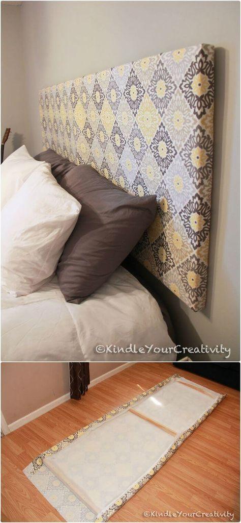 Têtes de lit bricolage – 40 idées de têtes de lit bricolage faciles et bon marché – bingefashion.com/fr