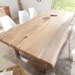 Tisch Massiver Baumstamm MAMMUT Akazie Massivholz Esstisch Holztisch Küchentisc...