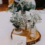 Tischdeko Hochzeit, wedding decoration, diy, vintage, boho, #weddingideas, #vintagewedding #greenery - Hochzeitskleid