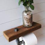 Toilettenpapier Halter – Regal – Bad-Accessoires – Toilettenpapierhalter – Altholz – Bad – Loo Rollenhalter – Badezimmer Lagerung - https://bingefashion.com/haus