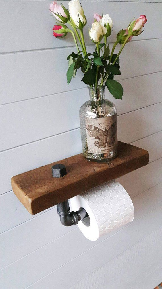 Toilettenpapier Halter – Regal – Bad-Accessoires – Toilettenpapierhalter – Altholz – Bad – Loo Rollenhalter – Badezimmer Lagerung – https://bingefashion.com/haus