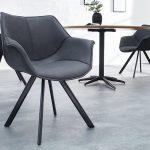 Tolle stuhl mit armlehne grau -