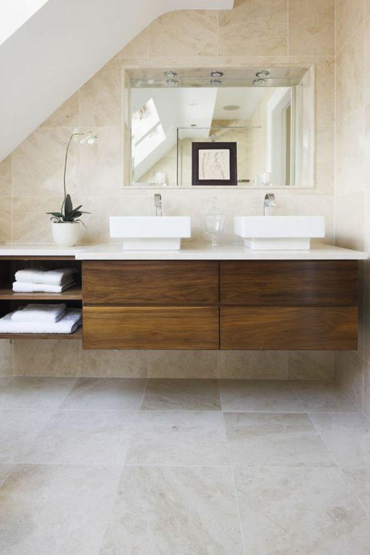 Travertin Fliesen im Badezimmer: Gestaltungsmöglichkeiten mit Natursteinfliesen