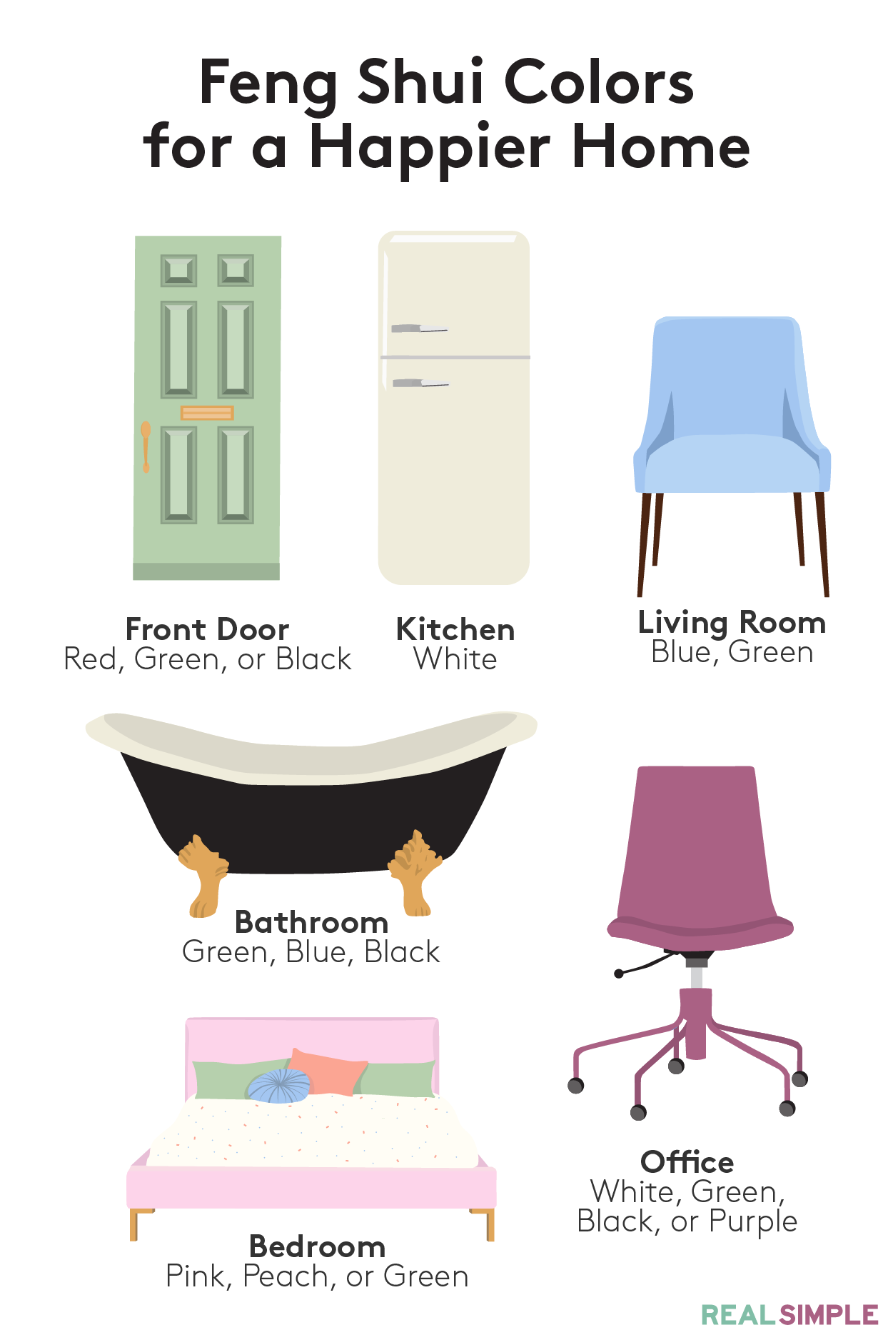 Try These Feng Shui Colors for a Happier Home