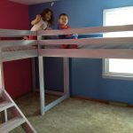 Twin loft beds with platform | Ana White