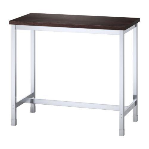 UTBY Bar table, brown-black, stainless steel – IKEA
