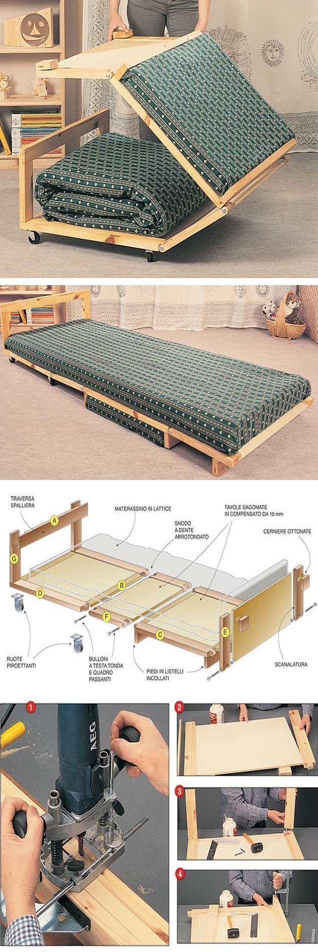 Un letto pouf #faidate, #salvaspazio e pratico – Wood Design