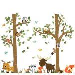 Une promenade dans la forêt la faune Stickers d'animaux mur Stickers enfants chambre décor