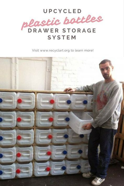 Upcycled Plastic Jerry Cans Drawer Storage System