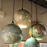 Upcycled World Globe – Einfache DIY Pendelleuchten - https://bingefashion.com/haus