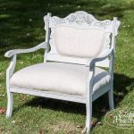 Upholstered Mini Victorian Settee - Eight Hundred Furniture