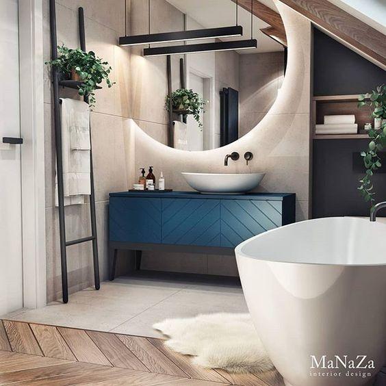 Urządzamy łazienkę w kolorze roku 2020 – Classic Blue