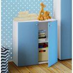 VCM Kinder - Kommode Vandol Mini , blau, Weiß / Blau
