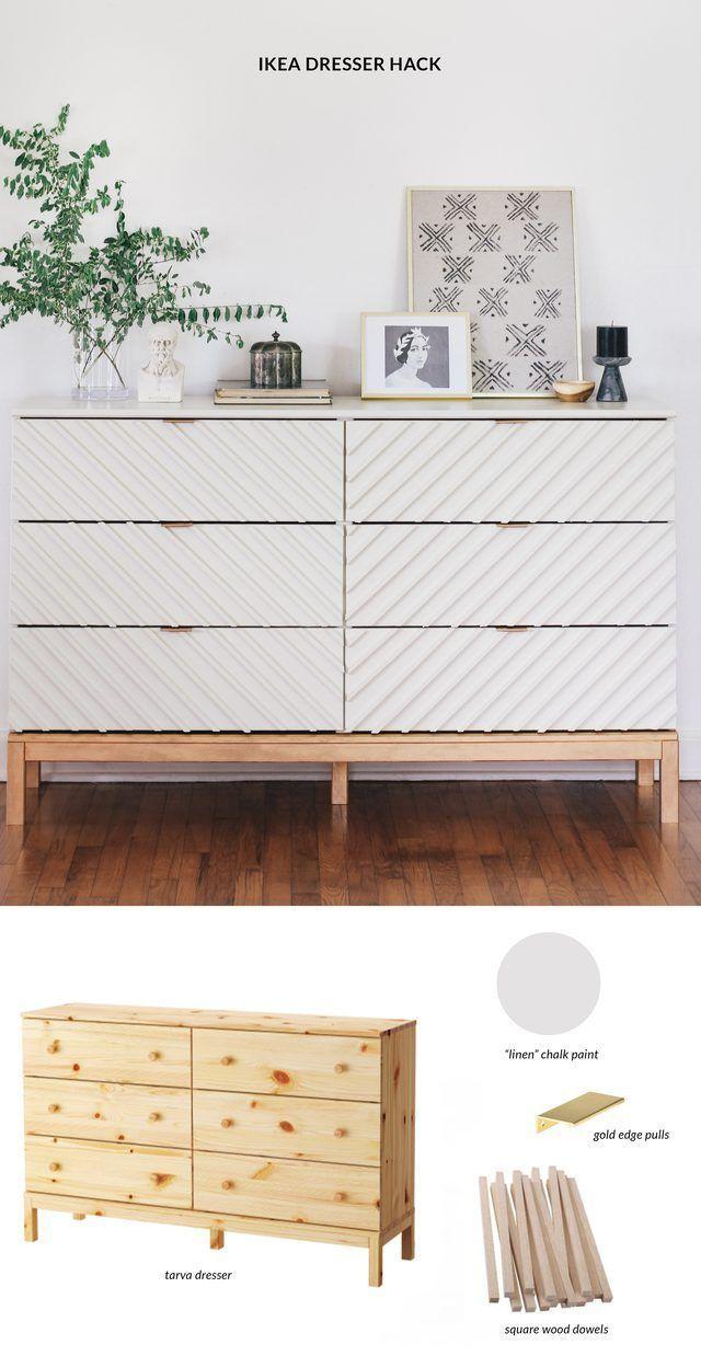 Verwandle eine bescheidene IKEA Kommode in ein wunderschönes Schlafzimmerstück – https://pickndecor.com/interior