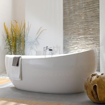Villeroy & Boch Aveo neue Generation freistehende Badewanne weiß, mit …   – H…