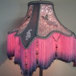 Vintage Floor Lamp  with Victorian Lamp Shade - Serendipity  0412