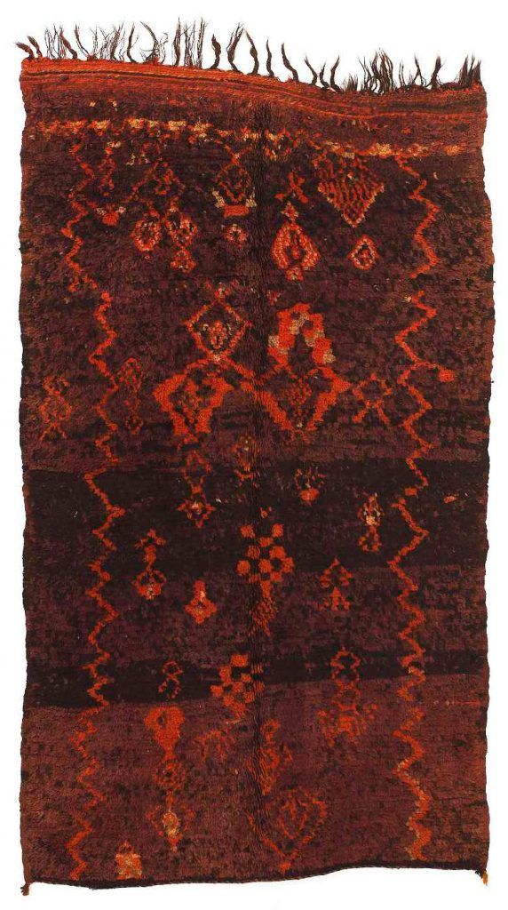 Vintage Moroccan Rehamna Tribal Carpet / 230 x 135 cm / Galerie RUMI – Sammlung …