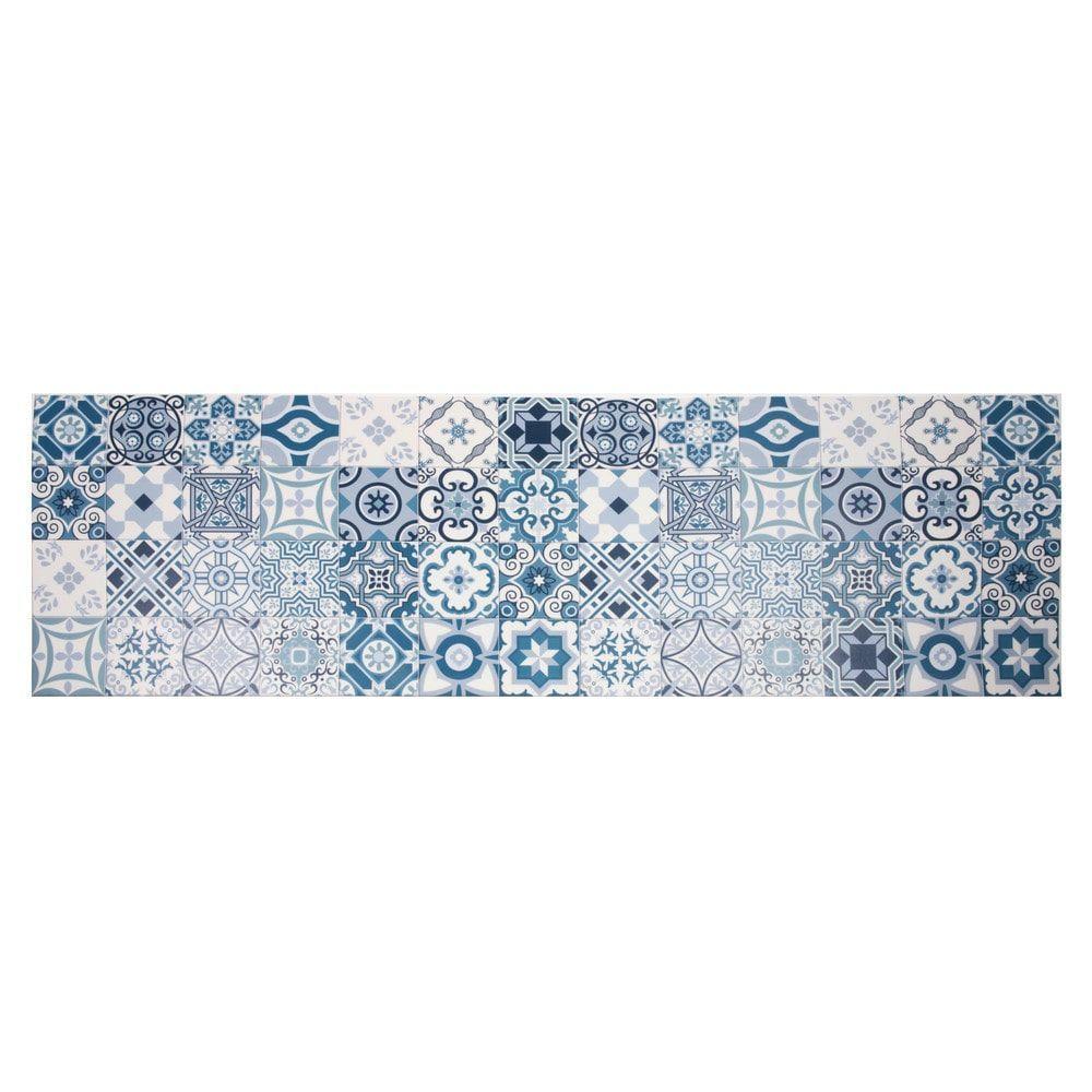 Vinyl-Teppich mit Zementfliesen-Motiven 60 x 199   Maisons du Monde – https://bingefashion.com/haus